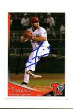Cre Finfrock signed autographed 2019 Lansing Lugnuts team card Jensen Beach FL