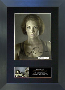 MAGGIE GREENE The Walking Dead Signed Reproduction Autograph Mounted Print 635
