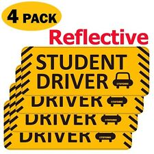 TOTOMO #SDM08 (Set of 4) Student Driver Magnet Reflective Car Safety Caution ...