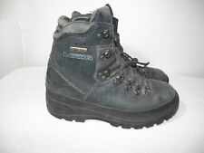 Lowa Womens Size 6.5 Mid Navy Nubuck Gore-Tex Boots Vibram Sole Pre-Owned