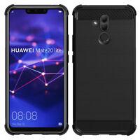 "Coque Etui Silicone Souple Fibre de Carbone Huawei Mate 20 Lite 6.3""/ Maimang 7"