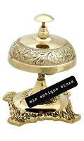 Vintage Solid Brass Beautiful Table Bell Office Desk Bell Teacher Desk Bell