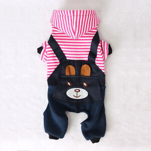 RYJOXZS Fashion Striped Pet Dog Clothes Dog Coat Hooded Sweatshirt Winter 1PCS