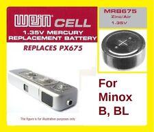 Per Minox B/BL - Batteria Zinco/Aria WeinCell MRB 675 - 1,35 V