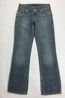 Levi's eve 577 W31 L34 44 46 jeans blu square cut bootcut boyfriend usato levis