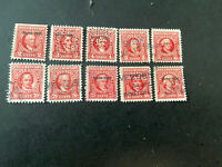 U.S. Stamp Scott # R387-396 Internal Revenue Documentary Used