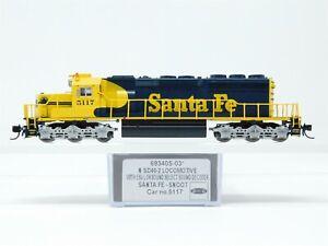 N Scale Intermountain 69340S-03 ATSF Santa Fe SD40-2 Diesel #5117 w/ DCC