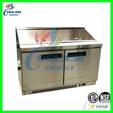 "60"" Prep Table Commercial Refrigerator Sandwich Salad Pizza Nsf 16 Pan Resturant"