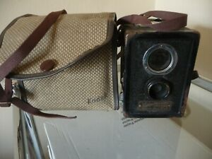 Vintage 1930s Ensign Ful Vue Box Camera & Case - Collectable British Camera!