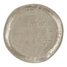 "SARO CH497.S13R Brossé Aluminum Organic Charger Plates Set of 4 13"" Silver"