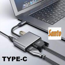 Santo Type-C to HDMI VGA Adapter 4K USB Hub