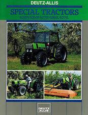 """DEUTZ  ALLIS 6250V to 6275L SPECIAL TRACTORS SALES BROCHURE 8 PAGES """"NEW"""""""