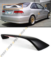 96-00 HONDA CIVIC 2DR COUPE 6TH GEN Si BLK TRUNK SPOILER WING W/ LED BRAKE LIGHT