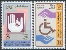 Qatar 1994 ** Mi.1035/36 Behinderte Disabled Rollstuhl