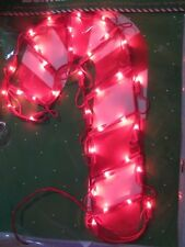 New - Lighted Candy Cane 35 mini lights ( size: 9 in x 16 in )