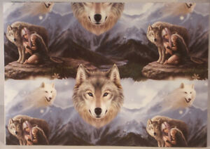 Anne Stokes Protector Wolf Gift Wrap Wrapping Paper 42 x 59cm Single sheet