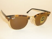 New  RAY BAN  Clubmaster Tortoise Frame  RB 3016 1160  B-15 Brown Lenses  51mm