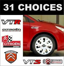 Citroen C1 C2 C3 C4 C5 VTR VTS decals autocollants deux côtés