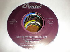 The Beatles 45 Got To Get You Into My Life CAPITOL YELLOW VINYL