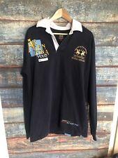 La Martina Mens Long Sleeve Polo Shirt sz 2XL Argentina