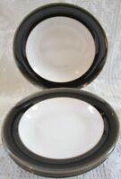 Denby Oyster Stoneware Gourmet Bowls - Set of 4 - 11 Inches - England
