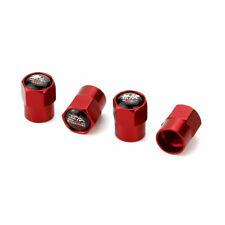 Red Metal Car Wheel Tire Valve Dust Stems Air Caps With Mugen Power Emblem JDM