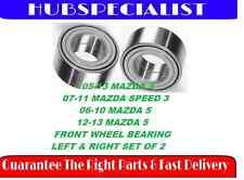 FRONT WHEEL HUB BEARING 05-13 MAZDA 3 W/ABS(FITS 06-10 MAZDA 5)510096 SET OF 2