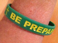 """Be Prepared"" 100 - rubber wristbands -bracelets-Boy Scouts-Christian -Bible"
