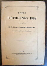 CATALOGUE DE LIVRES D'ETRENNES 1868 EN VENTE CHEZ LIARD, A DOMFRONT