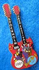 New listing Stockholm Jazz Music Festival Double Neck Sg Gibson Guitar Hard Rock Cafe Pin
