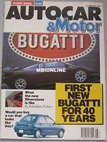 AUTOCAR magazine 20/2/1991 featuring Vauxhall Calibra, Peugeot, Renault Clio 16v