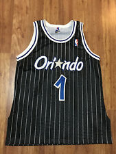 MENS 44 - Vtg 90s NBA Orlando Magic #1 PENNY HARDAWAY Champion SEWN Jersey USA