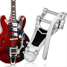 Chrome Tremolo Vibrato Bridge Tailpiece Hollowbody Archtop For Les Paul Guitar