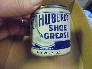 Vintage Huberd's Shoe Grease Tin