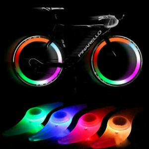 2 X COLOUR Bike Lights Bicycle Cycling Wheel Spoke Wire Tyre Bright LED Flashing