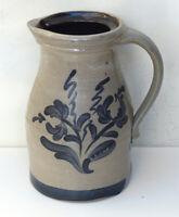 Rare Rowe Pottery Pitcher Salt Glaze with Charcoal Slip not Blue 1989 KZ Reject