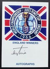 Terry Paine Autograph England 1966 World Cup Signed Jules Rimet Card