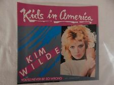 "Kim Wilde ""Kids in America"" PICTURE SLEEVE! BRAND NEW! ONLY NEW COPY ON eBAY!"