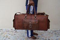 Leder Reisetasche Duffle Bag Weekend Reisegepäck Handtasche Sporttasche