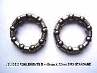 (V31) 2 CAGES A BILLES - ROULEMENTS - POUR PEDALIER BMX VINTAGE 90's