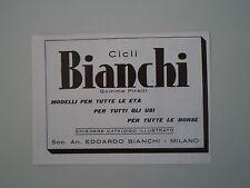 advertising Pubblicità 1937 CICLI BICICLETTE BIANCHI
