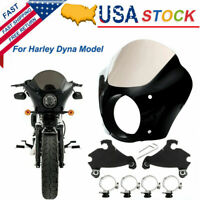 49MM Memphis Shades W/ Trigger Lock Mount Gauntlet Fairing For Harley Dyna