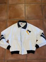 Mens Pittsburgh Penguins VTG 90s Swingster Windbreaker Zip Up Jacket Sz XL