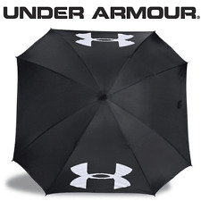 "Under Armour 2017 68"" Double Canopy Golf Umbrella - Black/High Vis Yellow"