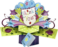 3D Pop Up Greeting Card by Second Nature - Thank You - Sn-Pop-017