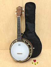 Caraya SBJUK-118 Concert Size Banjo ukulele,Flame Maple Resonator+Free Gig Bag