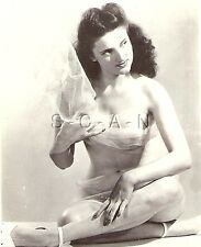 Original Vintage Artistic 1940s-60s Nude RP- Dancer Wrapped in Sheer Cloth