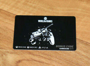 World of Tanks BONUSCODE Card Gamescom 2019 Xbox One Xbox 360 PS4 Wargaming