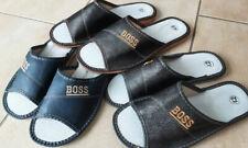 >>BOSS<< Herren Hausschuhe,Pantoffeln,Latschen,Kapcie -LEDER- NEU Gr.40-45