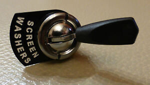 Austin Healey Frogeye Bugeye Toggle Momentary Switch & Brass Screen Washers Tag